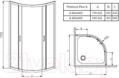 Душевой уголок Radaway Premium Plus A1700 / 30401-01-06N