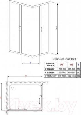 Душевое ограждение Radaway Premium Plus C900 / 30453-01-01N