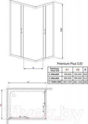 Душевая кабина Radaway Premium Plus C900 / 30453-01-06N