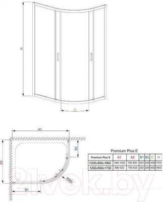 Душевой уголок Radaway Premium Plus E1700 / 30483-01-01N