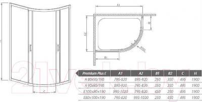 Душевое ограждение Radaway Premium Plus E1900 / 30492-01-01N