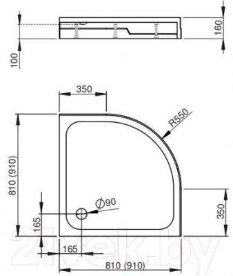 Душевой поддон Radaway Rodos A900 / 4P99155-03