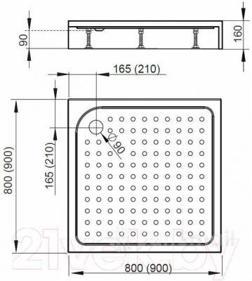 Душевой поддон Radaway Rodos C800 / 4K88155-03