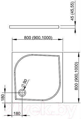 Душевой поддон Radaway Delos C900 / SDC0909-01