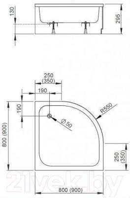 Душевой поддон Radaway Samos A900 / 4S99300-03