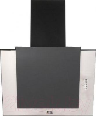Вытяжка декоративная Zorg Technology Вертикал А (Titan) 1000  (90, нержавейка/черное стекло) - общий вид