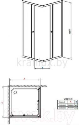 Душевой уголок Radaway Classic С900 / 30050-01-06
