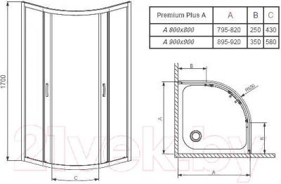Душевой уголок Radaway Premium Plus A800 / 30411-01-01N
