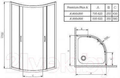Душевой уголок Radaway Premium Plus A900 / 30401-01-01N