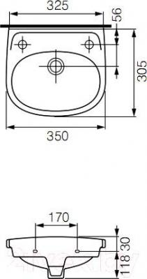 Умывальник Cersanit Eko 35 (левосторонний)