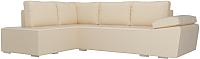 Комплект мягкой мебели Лига Диванов Хавьер левый / 101266 (экокожа бежевый) -
