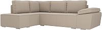 Комплект мягкой мебели Лига Диванов Хавьер левый / 101260 (рогожка бежевый) -
