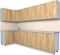 Готовая кухня Интерлиния Мила Лайт 1.2x3.0 (дуб золотой) -