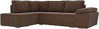 Комплект мягкой мебели Лига Диванов Хавьер левый / 101262 (рогожка коричневый) -