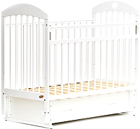 Детская кроватка Bambini Comfort М / 01.10.19 (белый) -