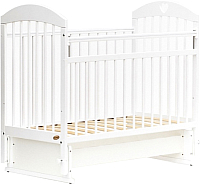 Детская кроватка Bambini Comfort М / 01.10.20 (белый) -