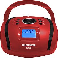 Магнитола Telefunken TF-SRP3449RB (красный/черный) -