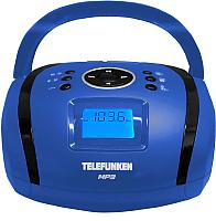 Магнитола Telefunken TF-SRP3449BLB (синий/черный) -