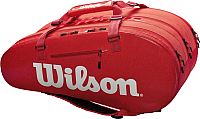 Сумка теннисная Wilson Super Tour 3 Comp RED / WRZ840815 -
