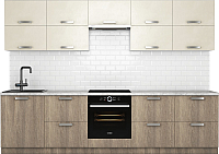 Готовая кухня Хоум Лайн Монако 3.0 (баменда серо-бежевый/кашемир серый) -