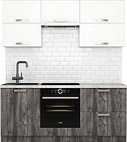 Готовая кухня Хоум Лайн Монако 1.9 (сосна пасадена/белый глянец) -
