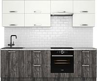 Готовая кухня Хоум Лайн Монако 2.5 (сосна пасадена/белый глянец) -