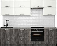 Готовая кухня Хоум Лайн Монако 2.6 (сосна пасадена/белый глянец) -