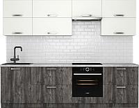 Готовая кухня Хоум Лайн Монако 2.7 (сосна пасадена/белый глянец) -