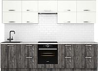 Готовая кухня Хоум Лайн Монако 2.9 (сосна пасадена/белый глянец) -