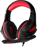Наушники-гарнитура Crown CMGH-2000 (черный/красный) -