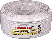 Кабель Rexant CCA ШТЛП-2 / 01-5001-3 (100м, белый) -