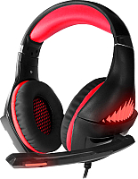Наушники-гарнитура Crown CMGH-2100 (черный/красный) -