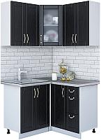 Готовая кухня Интерлиния Мила Крафт 1.2x1.2 (дуб английский) -