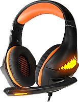 Наушники-гарнитура Crown CMGH-2103 (черный/оранжевый) -