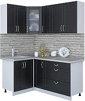 Готовая кухня Интерлиния Мила Крафт 1.2x1.7 (дуб английский) -