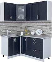 Готовая кухня Интерлиния Мила Крафт 1.2x1.7 (дуб королевский) -