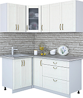 Готовая кухня Интерлиния Мила Крафт 1.2x1.7 (дуб полярный) -