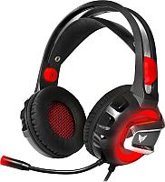 Наушники-гарнитура Crown CMGH-3000 (черный/красный) -
