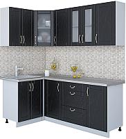 Готовая кухня Интерлиния Мила Крафт 1.2x2.0 (дуб английский) -