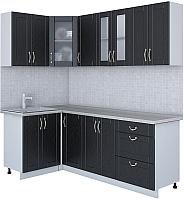 Готовая кухня Интерлиния Мила Крафт 1.2x2.2 (дуб английский) -