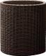 Кашпо Keter Cylinder Planter L / 223947 (коричневый) -