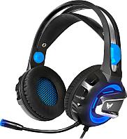 Наушники-гарнитура Crown CMGH-3101 (черный/синий) -