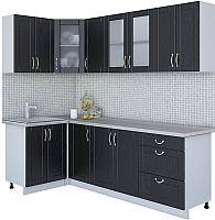 Готовая кухня Интерлиния Мила Крафт 1.2x2.4 (дуб английский) -