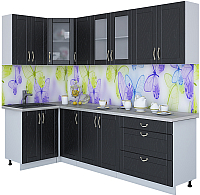 Готовая кухня Интерлиния Мила Крафт 1.2x2.6 (дуб английский) -