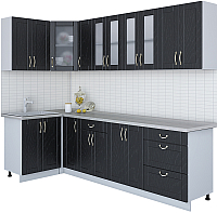 Готовая кухня Интерлиния Мила Крафт 1.2x2.7 (дуб английский) -