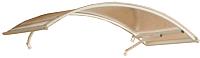 Козырек Silver Wing Арочный 120x160 / 10007 (прозрачный) -