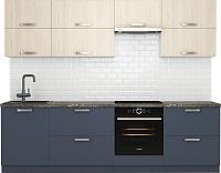 Готовая кухня Хоум Лайн Монако 2.7 (альпийское озеро/флитвуд белый) -
