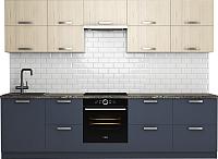 Готовая кухня Хоум Лайн Монако 2.9 (альпийское озеро/флитвуд белый) -