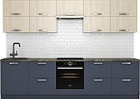 Готовая кухня Хоум Лайн Монако 3.0 (альпийское озеро/флитвуд белый) -