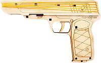 Пистолет игрушечный Woody Пистолет стреляет резинками / 02512 -